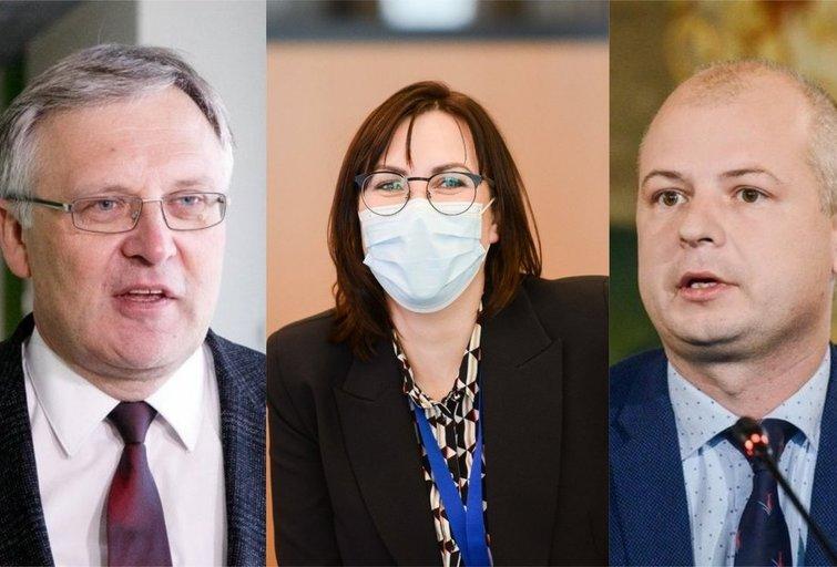 A. Žukauskas, J. Sejonienė ir S. Gentvilas. (tv3.lt fotomontažas)