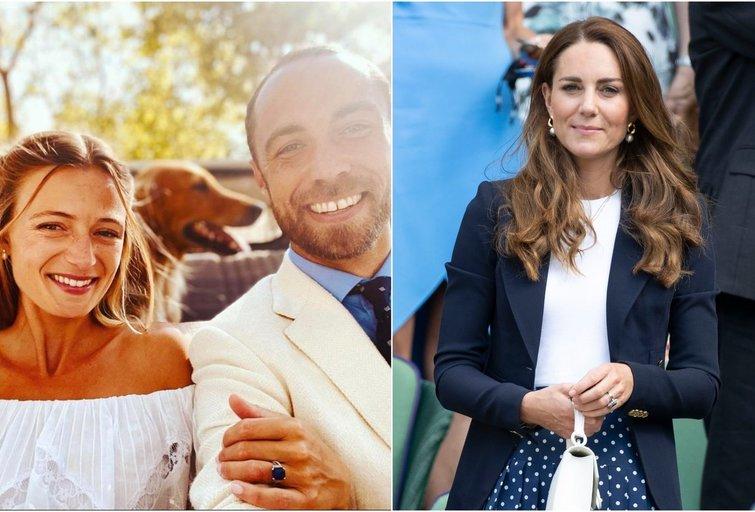 James Middleton su žmona ir Kate Middleton (instagram.com ir SCANPIX nuotr. montažas)