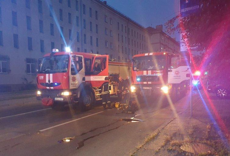Vilniuje užsidegė butas (nuotr. Broniaus Jablonsko)