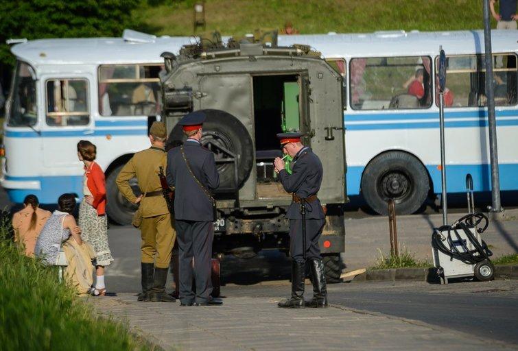 Vilniuje filmuojamas filmas apie Černobylį (nuotr. Eimanto Genio)