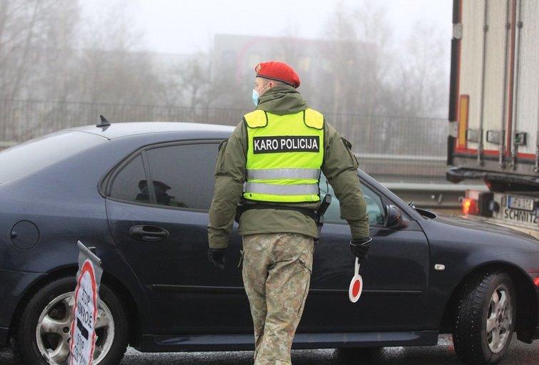 Policijos postas (nuotr. Broniaus Jablonsko)