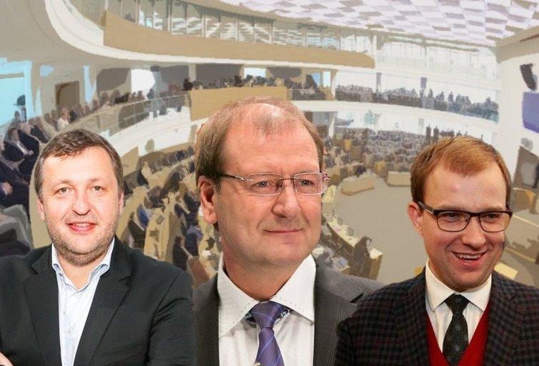 A. Guoga, V. Uspaskichas ir V. Gapšys (tv3.lt fotomontažas)