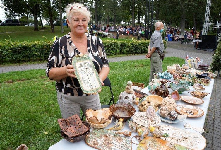 Keramika Irenai Dumskienei atvėrė naują pasaulį. Aldonos Milieškienės nuotr.