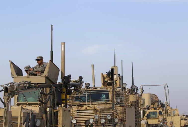 Paskutiniai JAV kariai paliko Iraką (nuotr. SCANPIX)