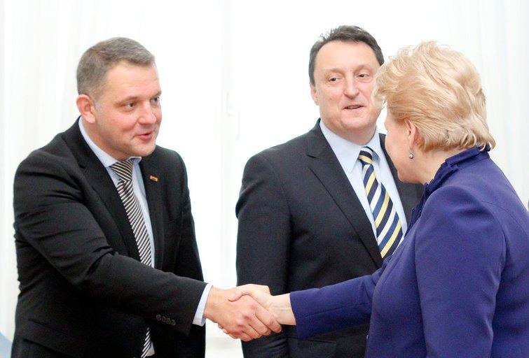 E. Masiulis ir D. Grybauskaitė (nuotr. Fotodiena.lt)