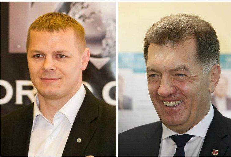 Kęstutis Smirnovas ir Algirdas Butkevičius (nuotr. TV3)