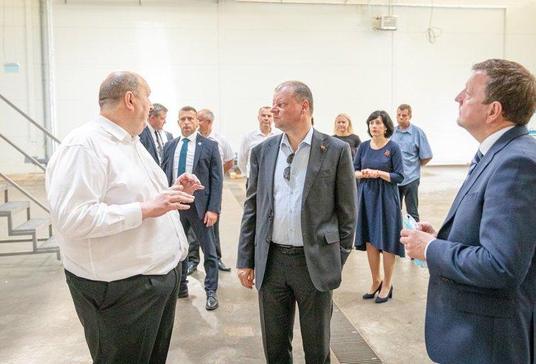Premjeras Joniškio rajone atidarė biodujų jėgainę (nuotr. LRVK   Darius Janutis)