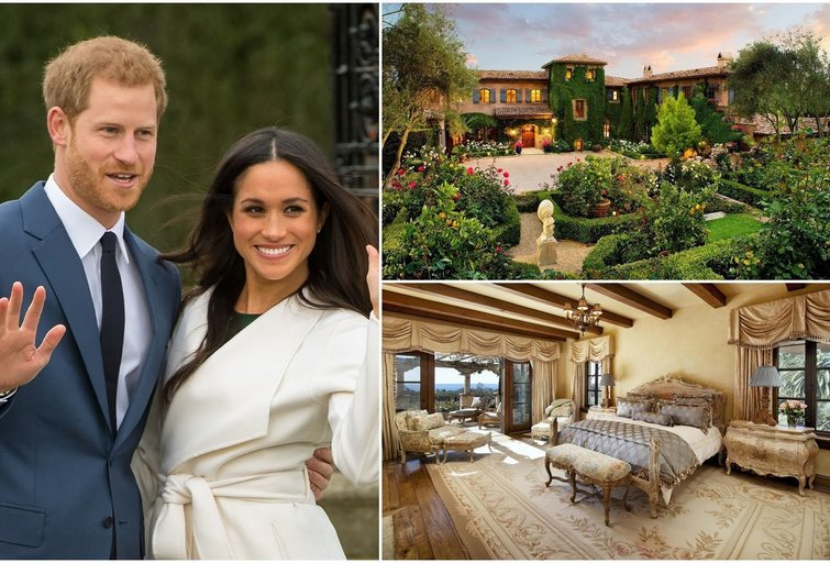 Princo Harry ir Meghan Markle namai Santa Barbaroje (tv3.lt fotomontažas)