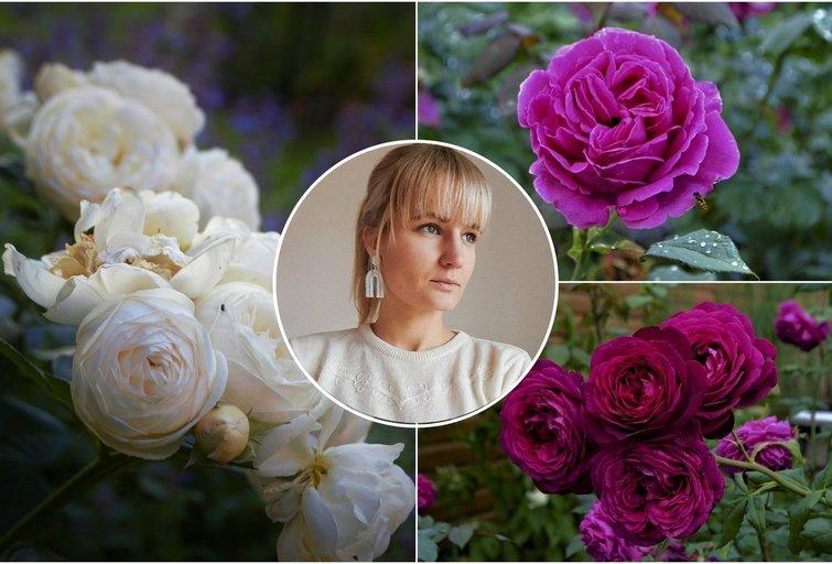 Ugnė savo sode augina daugiau nei 40 rožių rūšių (nuotr. asm. archyvo)