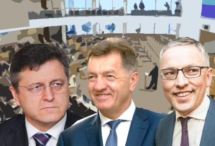 V. Valkiūnas, A. Butkevičius ir V. Bakas (tv3.lt fotomontažas)