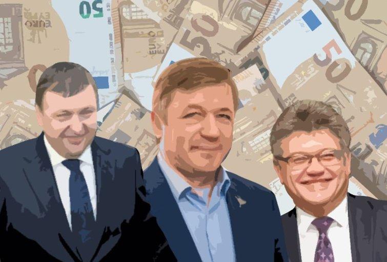 Antanas Guoga. Ramūnas Karbauskis. Remigijus Lapinskas (tv3.lt fotomontažas)