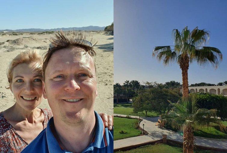 "Ingridos ir Sauliaus atostogos Egipte (nuotr. asmeninio albumo (""Facebook"")"