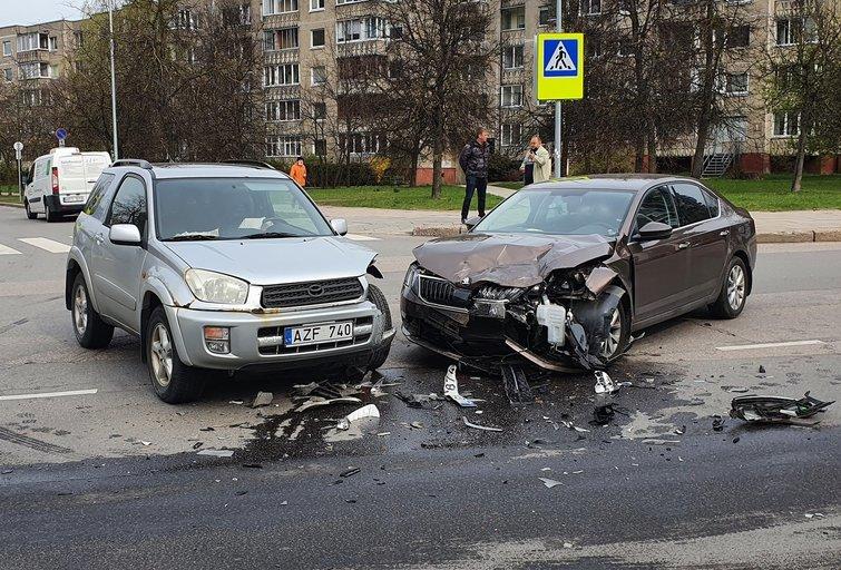 Avarija Musininkų ir Šeškinės gatvių sankryžoje (nuotr. Broniaus Jablonsko)