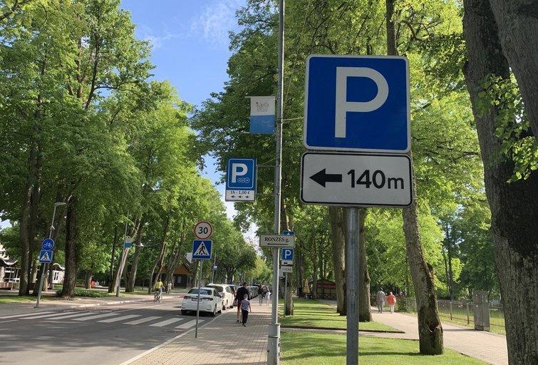Parkavimas Palangoje (nuotr. tv3.lt)
