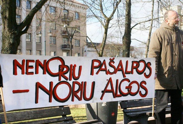 Mokytojų streikas (nuotr. BFL)