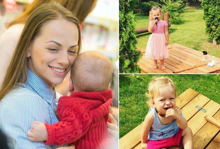 Ineta Puzaraitė-Žvagulienė su vaikais (tv3.lt fotomontažas)