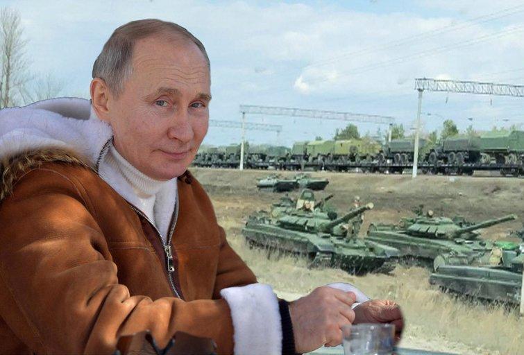Rusijos manevrai: karius atitraukė, bet karinę techniką paliko (nuotr. SCANPIX) tv3.lt fotomontažas