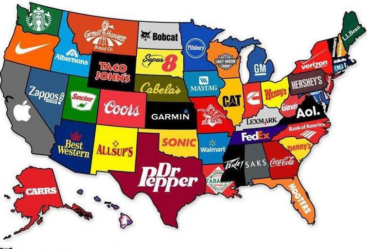 Žymiausias prekės ženklas iš kiekvienos JAV valstijos (nuotr. blogspot.com)