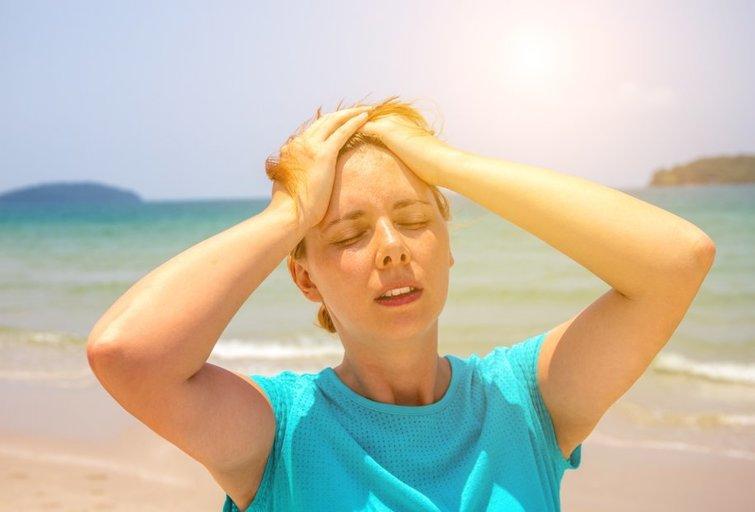 Moteris karštyje (nuotr. Shutterstock.com)