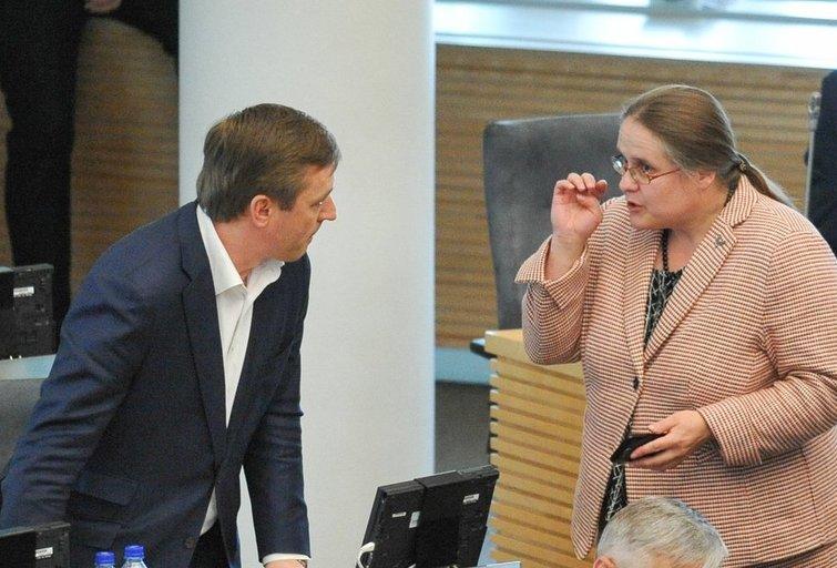 Agnė Širinskienė ir Ramūnas Karbauskis (nuotr. Fotodiena.lt)