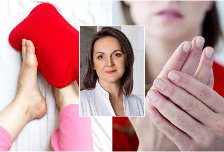 Gydytoja atskleidė, apie kokias ligas įspėja šąlančios rankos ir kojos (tv3.lt fotomontažas)