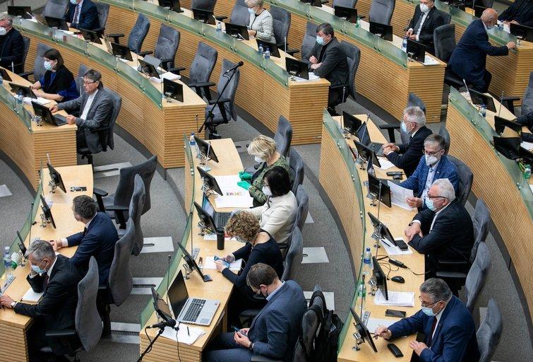 Seimo nariai per karantiną nesikuklino: lėšas leido iki paskutinio cento (Paulius Peleckis/Fotobankas)