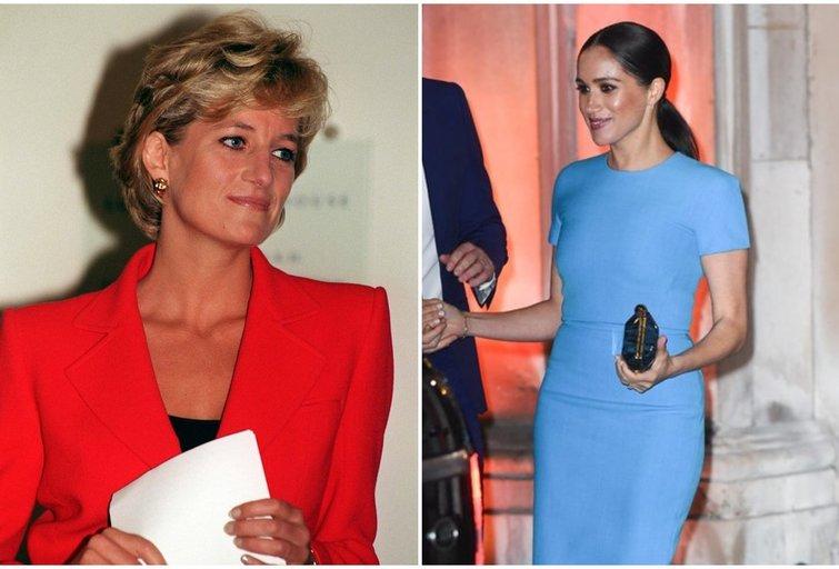 Princesė Diana ir Meghan Markle  (tv3.lt fotomontažas)