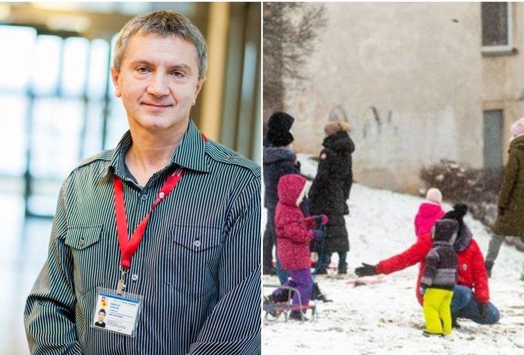Profesorius Kėvalas įspėjo dėl vaikų sveikatos: mokyklų uždarymas atsigręžia bumerangu (tv3.lt fotomontažas)