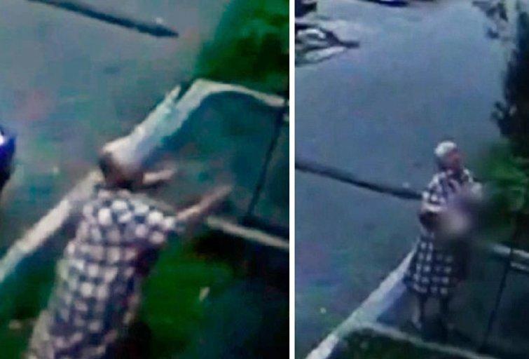 Stebuklas Rusijoje: moteris sugavo pro langą iškritusį kūdikį (nuotr. stop kadras/Youtube)