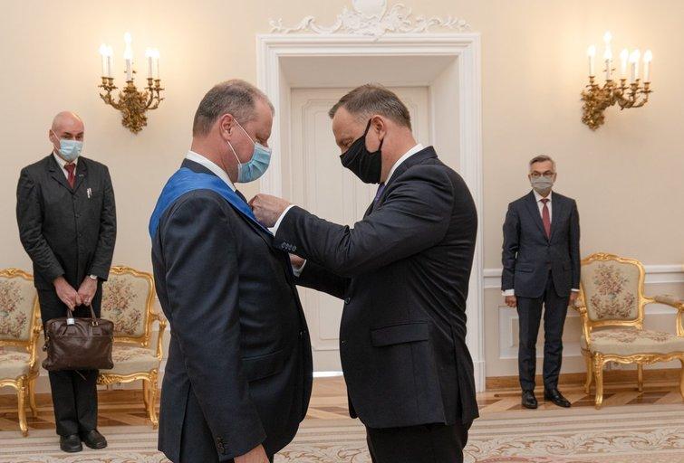 Saulius Skvernelis susitiko su Lenkijos prezidentu Andrzejumi Duda (nuotr. LRVK   Darius Janutis)