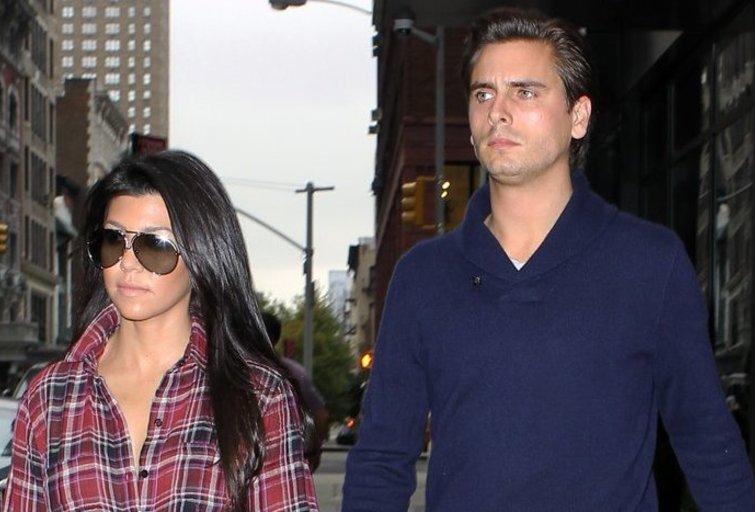 Kourtney Kardashian ir Scott Disick (nuotr. SCANPIX)