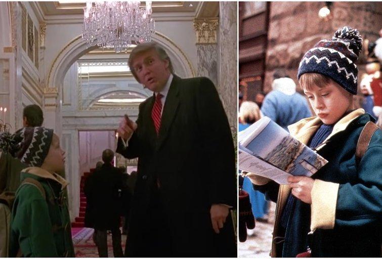 "Donaldas Trumpas filme ""Vienas namuose 2"" (tv3.lt fotomontažas)"