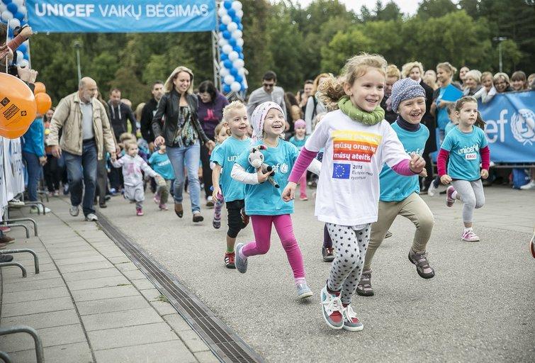 Jubiliejiniame UNICF vaikų bėgime – stulbinanti varžybų dvasia (nuotr. Organizatorių)