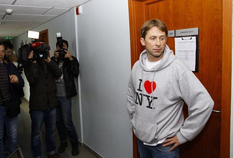 Dainininkas Egidijus Dragūnas teisme (nuotr. Fotodiena.lt)