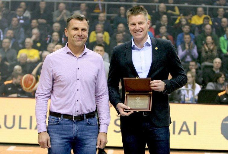 M. Žukauskas (dešinėje) (nuotr. bcsiauliai.lt)