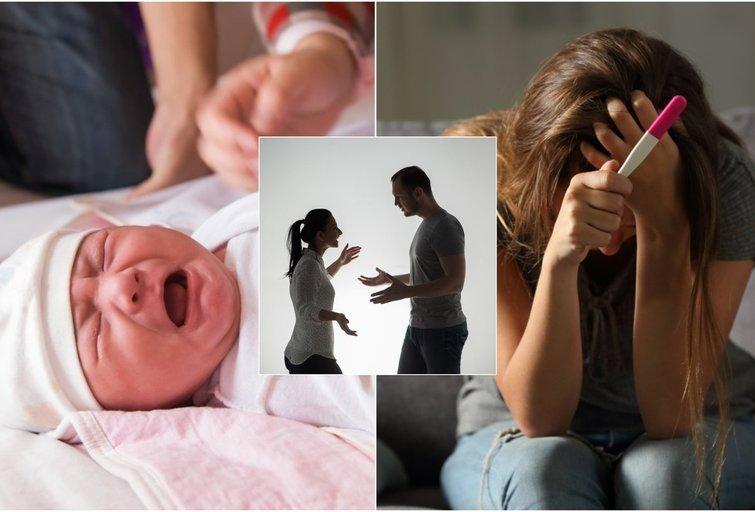 Kaunietė pastojo nuo vyro, kuriam kūdikis visiškai nerūpėjo: 6 kartus ketino darytis abortą (tv3.lt fotomontažas)