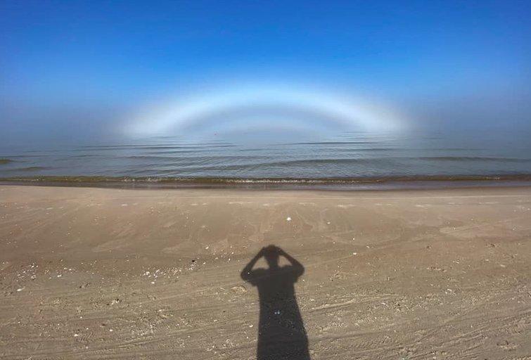Smiltynėje užfiksavo rūko lanką (nuotr. Ilonos Penčylės)