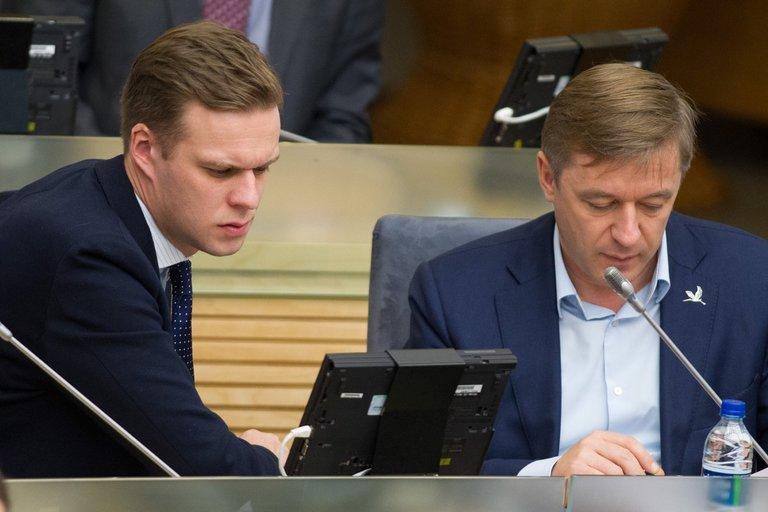 Gabrielius Landsbergis, Ramūnas Karbauskis (Karolis Kavolėlis/fotobankas.lt)