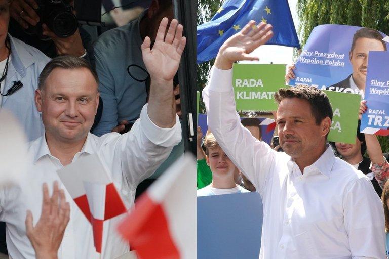 Andrzejus Duda ir  Rafalas Trzaskowskis (nuotr. SCANPIX)