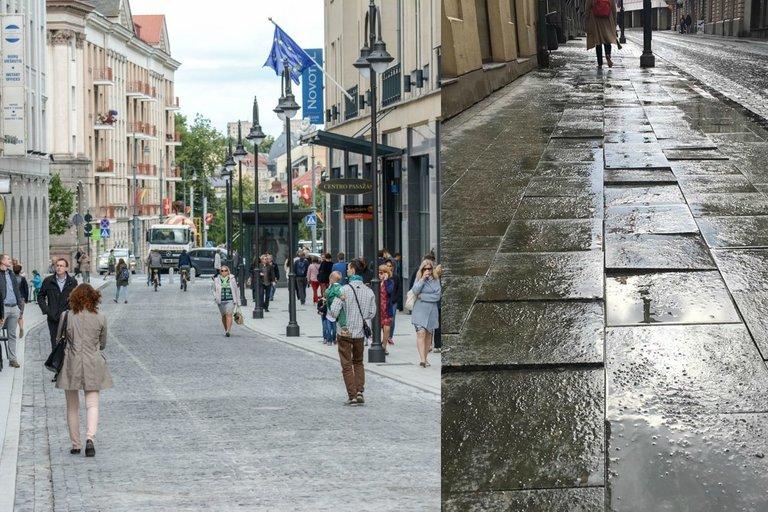 Vilniaus gatvė po remonto (tv3.lt fotomontažas)