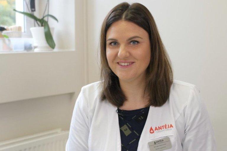Antėja laboratorija šeimos gydytoja Neringa Sakalauskė