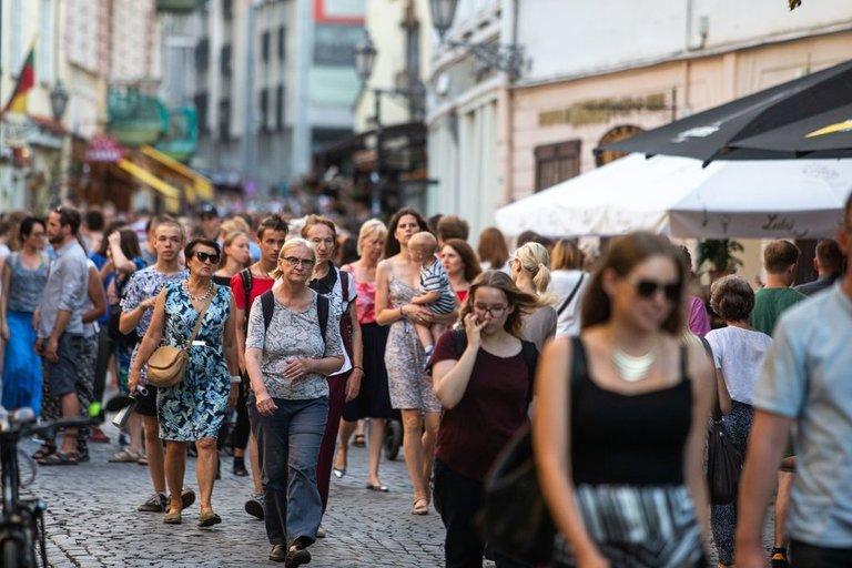 Žmonės mieste  (nuotr. Fotodiena/Justino Auškelio)