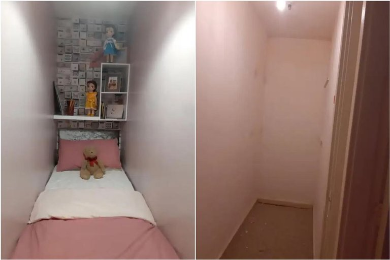 """Moteris nedidelę erdvę vieno kambario bute pavertė """"miego zona"""" (nuotr. facebook.com)"""