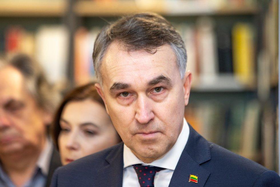 P. Auštrevičius pristato savo rinkimų programą (nuotr. fotodiena/Justino Auškelio)