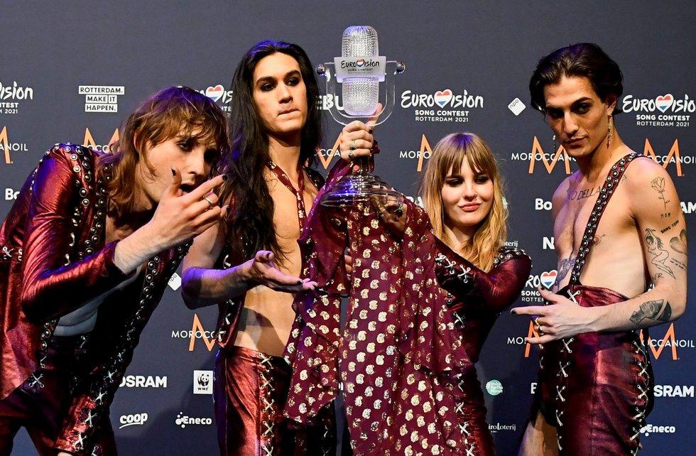 Eurovizijos nugalėtojai – Maneskin iš Italijos (nuotr. SCANPIX)