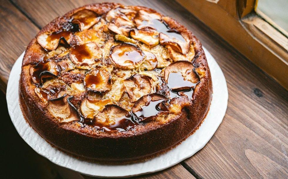Obuolių pyragas (nuotr. Dovilė Ramoškaitė)