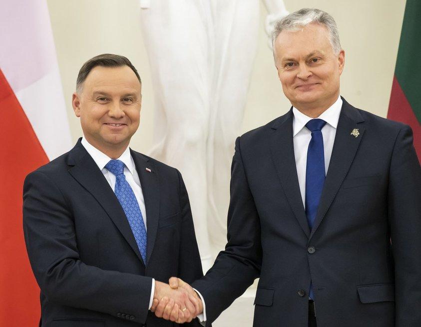 Lenkijos prezidentas Andrzejus Duda ir Lietuvos prezidentas Gitanas Nausėda