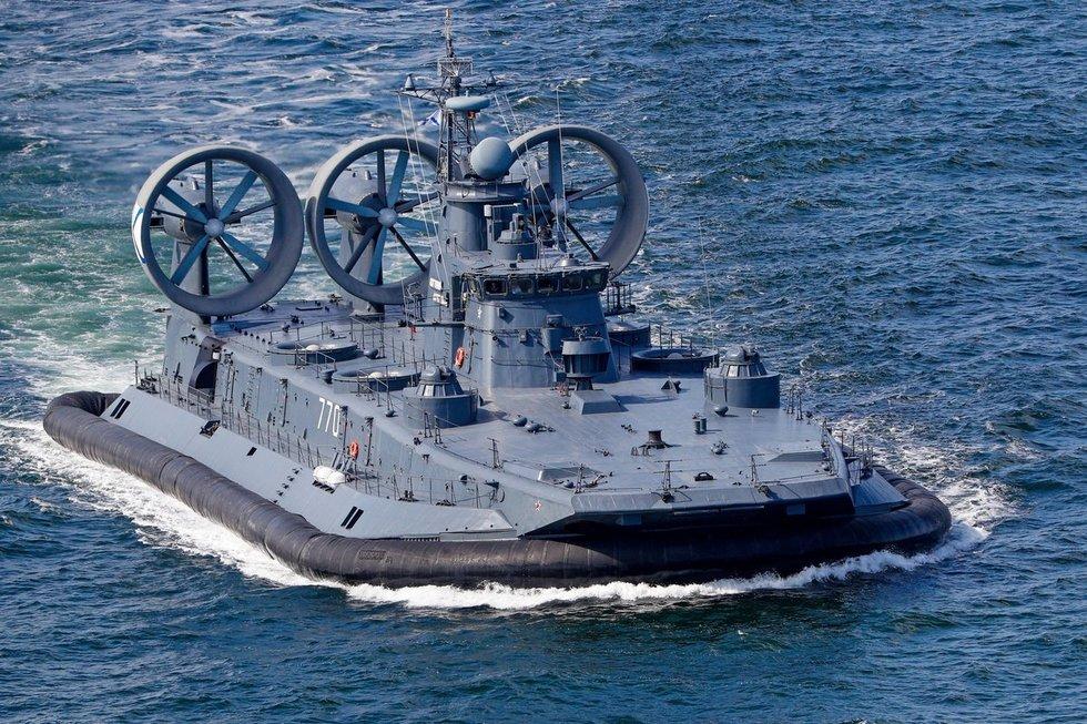"""Desantinis laivas """"Jevgenij Kočeškov"""", karinės pratybos Kaliningrade, 2019-ieji"""