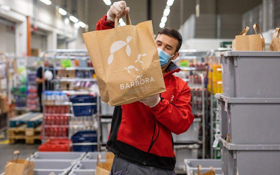 Barbora atsisako plastikinių maišų (bendrovės nuotr.)