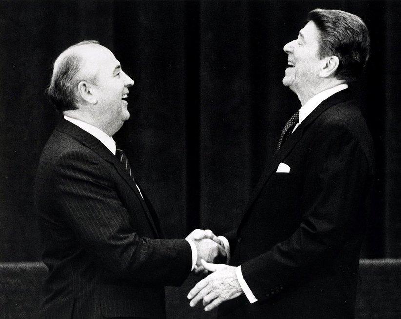 M. Gorbačiovas ir R. Reaganas (nuotr. SCANPIX)